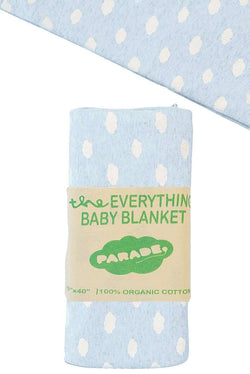 Parade Organics - Everything Blanket - Blue Clouds - Blanket - Growing Co. Kids Eco Store
