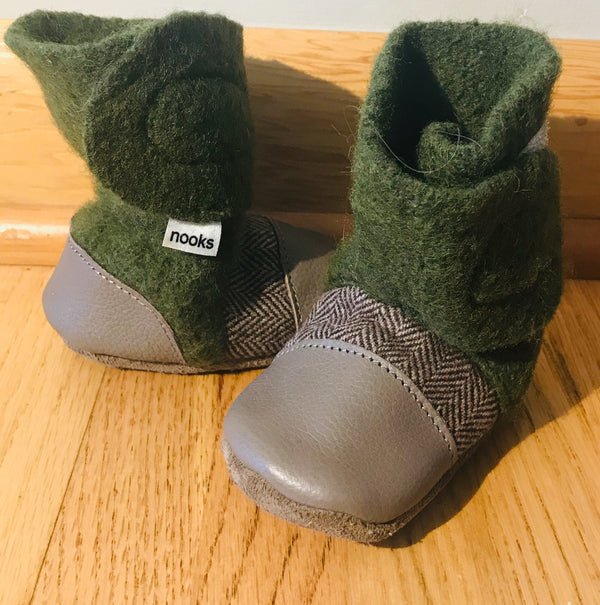 Nooks - Forest Green Wool Bootie - (Baby)