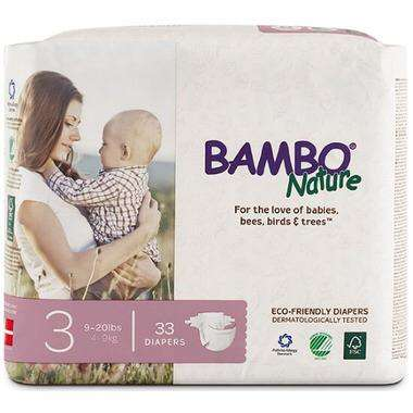 Bambo Nature - Diapers Size 3 (9-20 lbs) 33 diapers - Growing Co. Children's Consignment Calgary