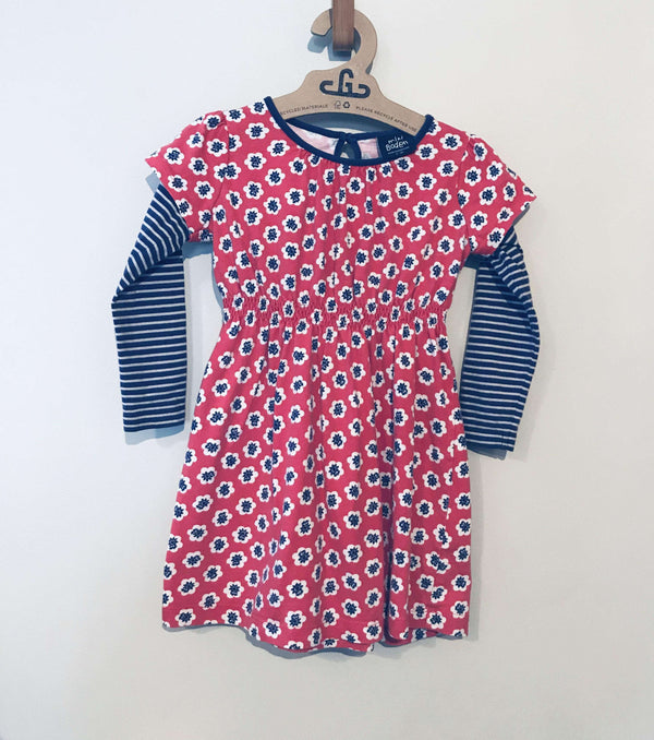 Mini Boden Long Sleeved Layered Dress - Growing Co. Children's Consignment Calgary