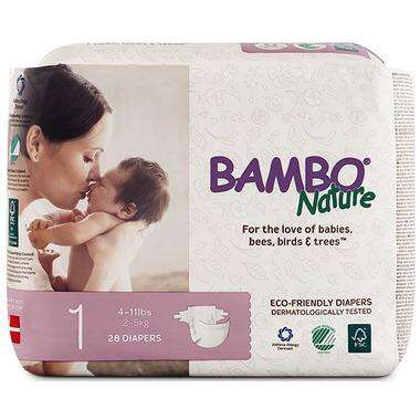 Bambo Nature - Diapers Size 1 (4-11 lbs) 28 diapers - Growing Co. Children's Consignment Calgary