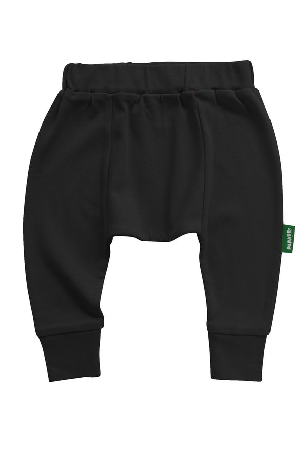 Parade Organics - Harem Pants - Black - Growing Co. Kids Eco Store