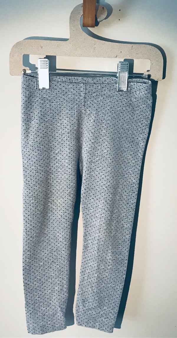 Tea Collection - Gray Polka Dot Leggings - (Child)
