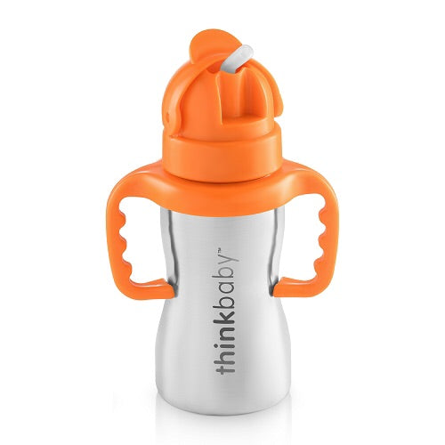 Thinkbaby- Thinkster Straw Sippy Cup (Orange) - Sippy Cup - Growing Co. Kids Eco Store