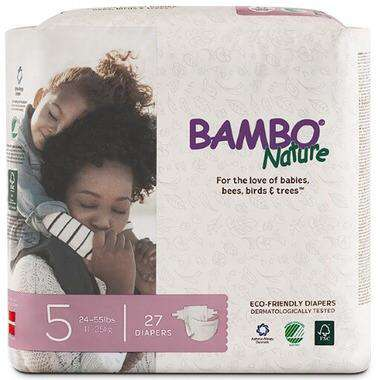 Bambo Nature - Diapers Size 5 (24-55 lbs) 27 diapers - Growing Co. Children's Consignment Calgary