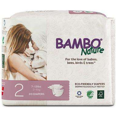 Bambo Nature - Diapers Size 2 (7-13 lbs) - 30 Diapers - Diapers - Growing Co. Kids Eco Store