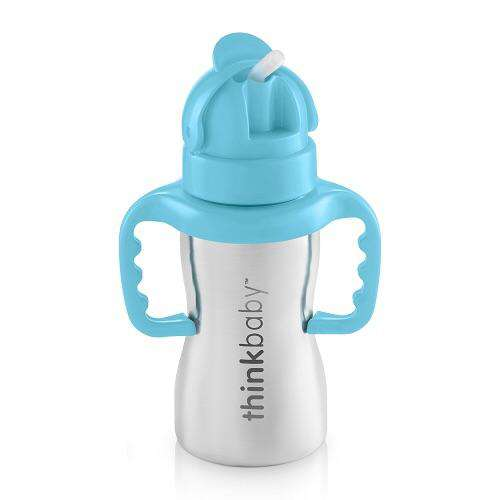 Thinkbaby- Thinkster Straw Sippy Cup (Blue) - Sippy Cup - Growing Co. Kids Eco Store