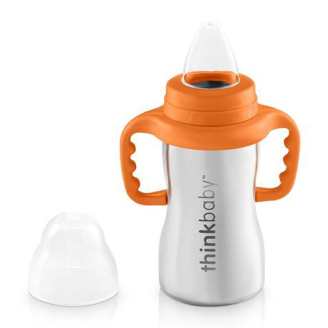 Thinkbaby - Stainless Steel Sippy Cup - Orange - Sippy Cup - Growing Co. Kids Eco Store