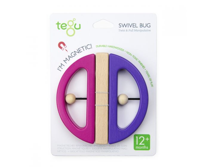 Tegu -Swivel Bug - Pink and Purple - Toy - Growing Co. Kids Eco Store