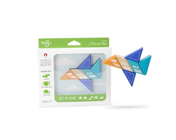 Tegu - Travel Pals - Jetplane - Toy - Growing Co. Kids Eco Store