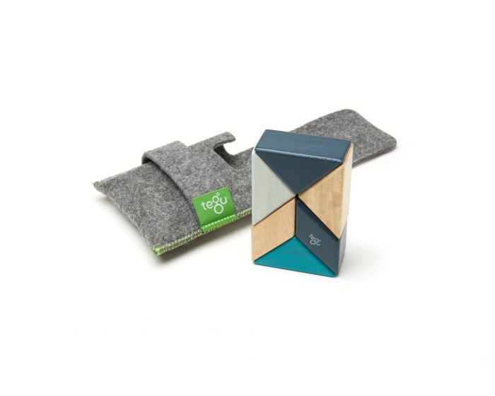 Tegu - Pocket Pouch Prism - 6 peices, Blues - Toy - Growing Co. Kids Eco Store