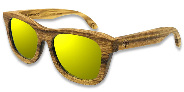 Wildwood Eyewear - Zebrawood (5-12 Years) - Gold - Sunglasses - Growing Co. Kids Eco Store