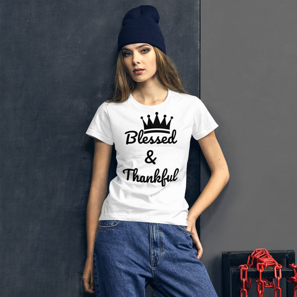 Blessed & Thankful Women's short sleeve t-shirt