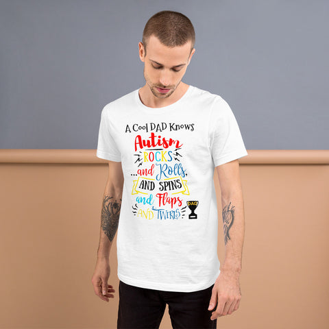Cool autism dad Short-Sleeve Unisex T-Shirt