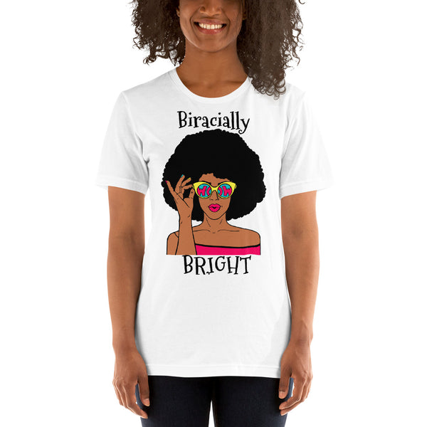 Biracially Bright Short-Sleeve Unisex T-Shirt