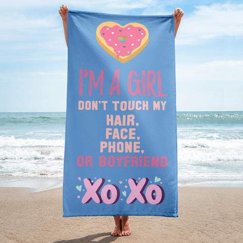 I am a girl Towel