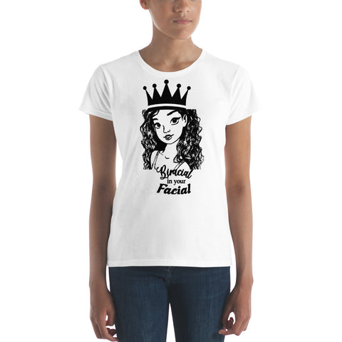 Dezaraye Biracial facial Women's short sleeve t-shirt