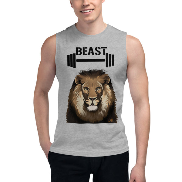 Dumbell & Lion Muscle Shirt