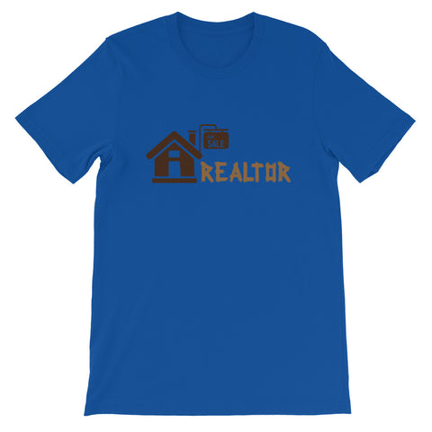 REALTOR HOME WITH SIGN Short-Sleeve Unisex T-Shirt