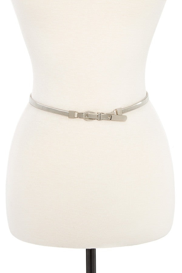 Buckle metal accent springy belt