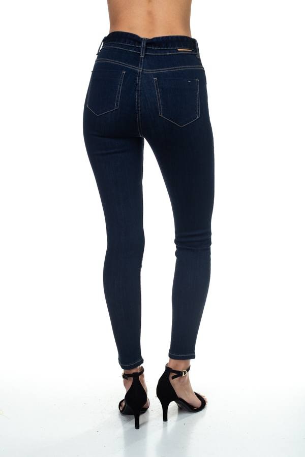 Denim High Rise Belted Pants