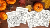 FREE PRINTABLES: Fall & Halloween Coloring Sheets