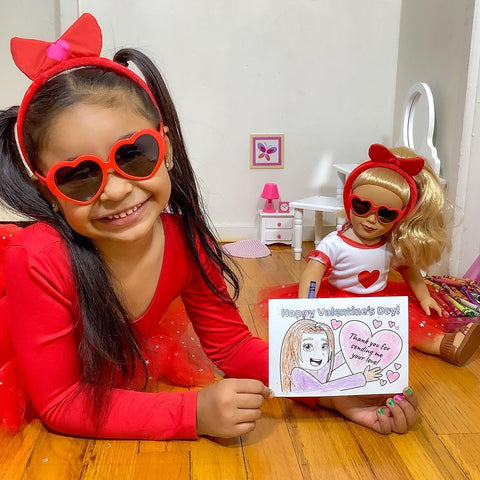 Matching Valentine's Day Outfits for 18-Inch Dolls