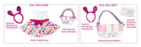 """Playtime by Eimmie 18"""" Doll Easter Playtime Pack"""