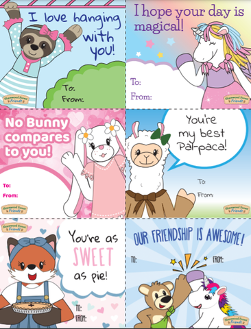 Sharewood Forest Friends Free Valentine's Day Cards