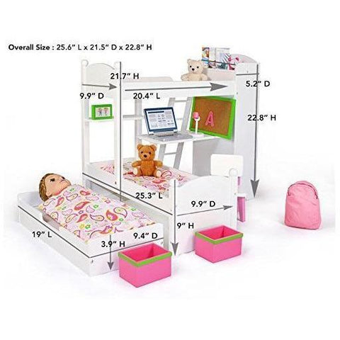 bunk bed sets for dolls kids