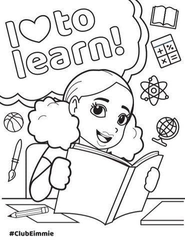 kaylie back to school coloring sheet