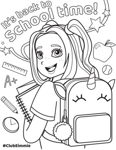 allie back to school coloring sheet