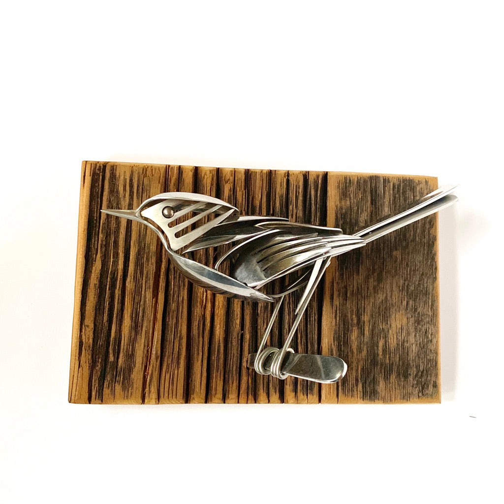 """Strider"" - Metal Bird Sculpture"