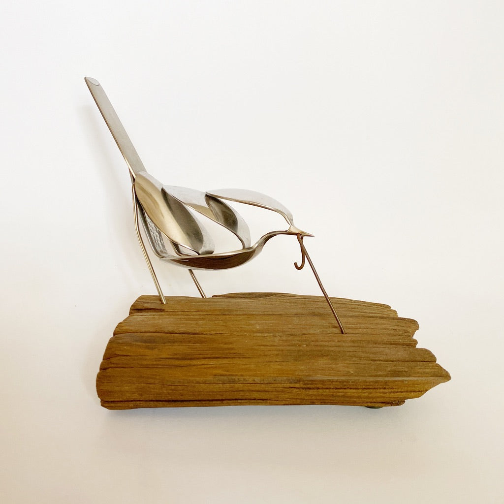 """Early Bird"" - Metal Bird Sculpture"