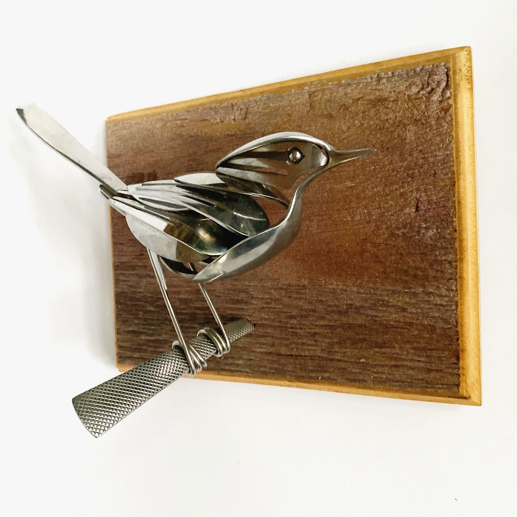 """Barley"" - Metal Bird Sculpture"