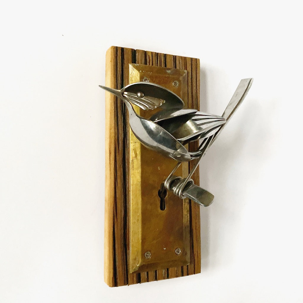 """Colin"" - Metal Bird Sculpture"
