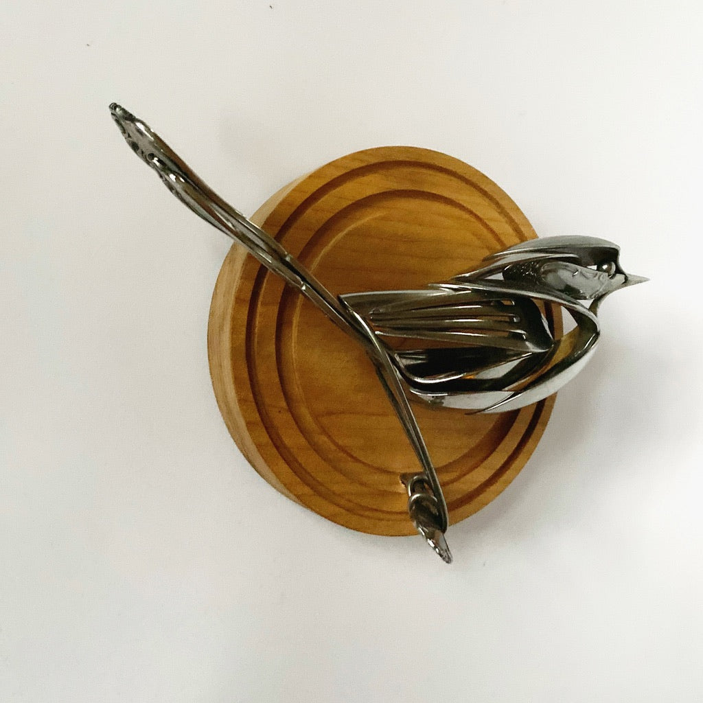 """Nina"" - Metal Bird Sculpture"