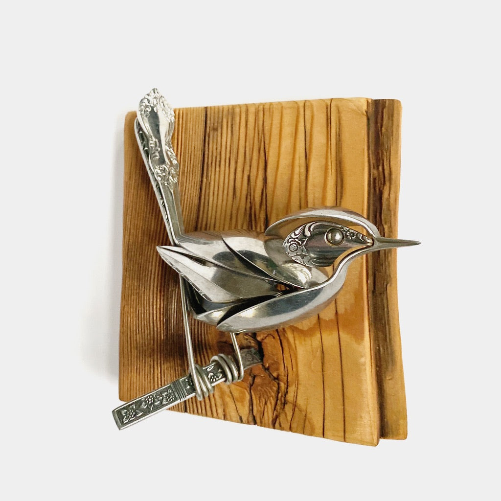 """Autumn"" - Metal Bird Sculpture"