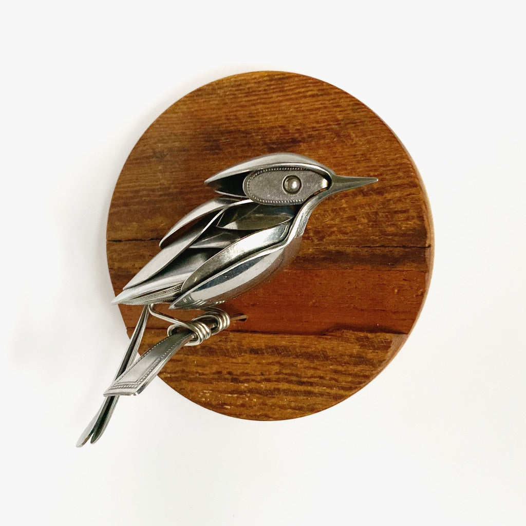 """Duane"" - Metal Bird Sculpture"