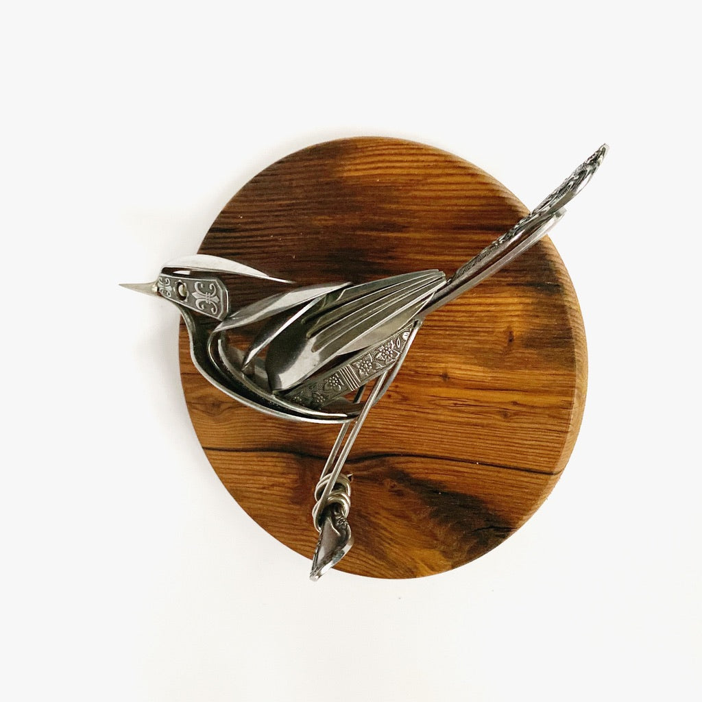 """Nancy"" - Metal Bird Sculpture"