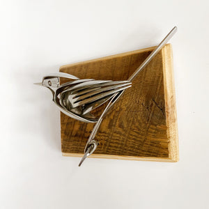 """Rheta"" - Metal Bird Sculpture"