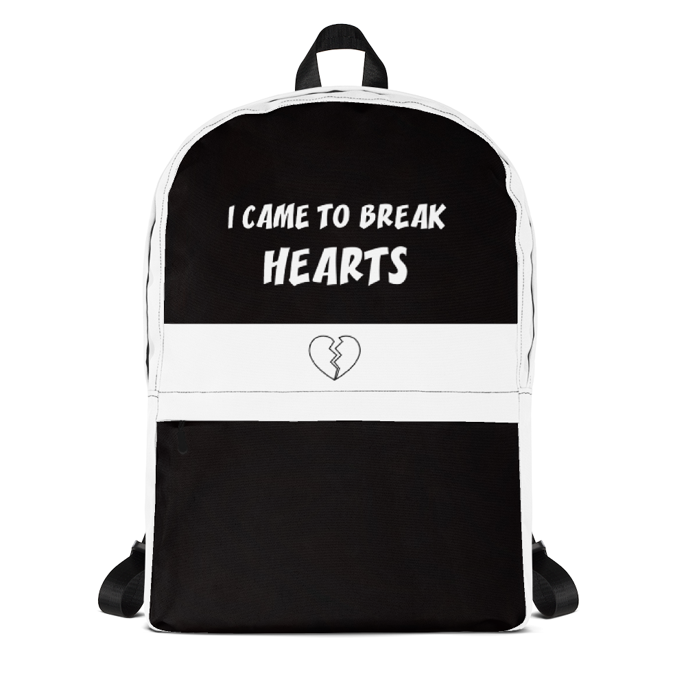 I CAME TO BREAK HEARTS backpack