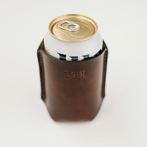 Clayton and Crume Leather Koozie