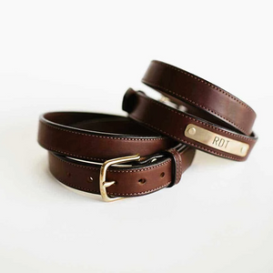 Clayton and Crume Nameplate Belt