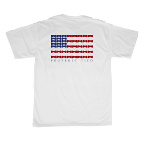 Properly Tied Bow Tie Flag SS T-shirt