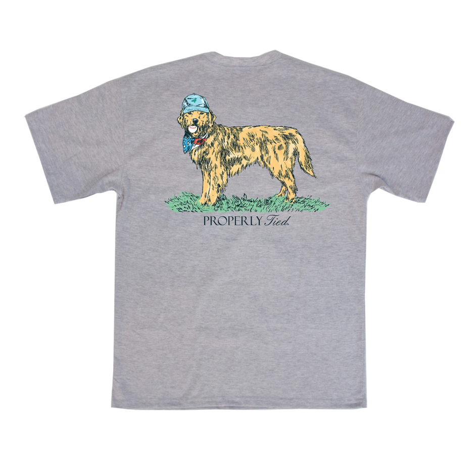 Properly Tied Boys American Pup SS T-shirt