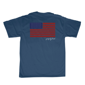 Properly Tied Americana Flag SS T-shirt