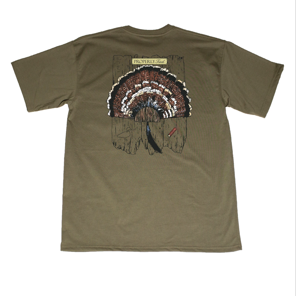 Properly Tied Boys Turkey Mount SS T-shirt