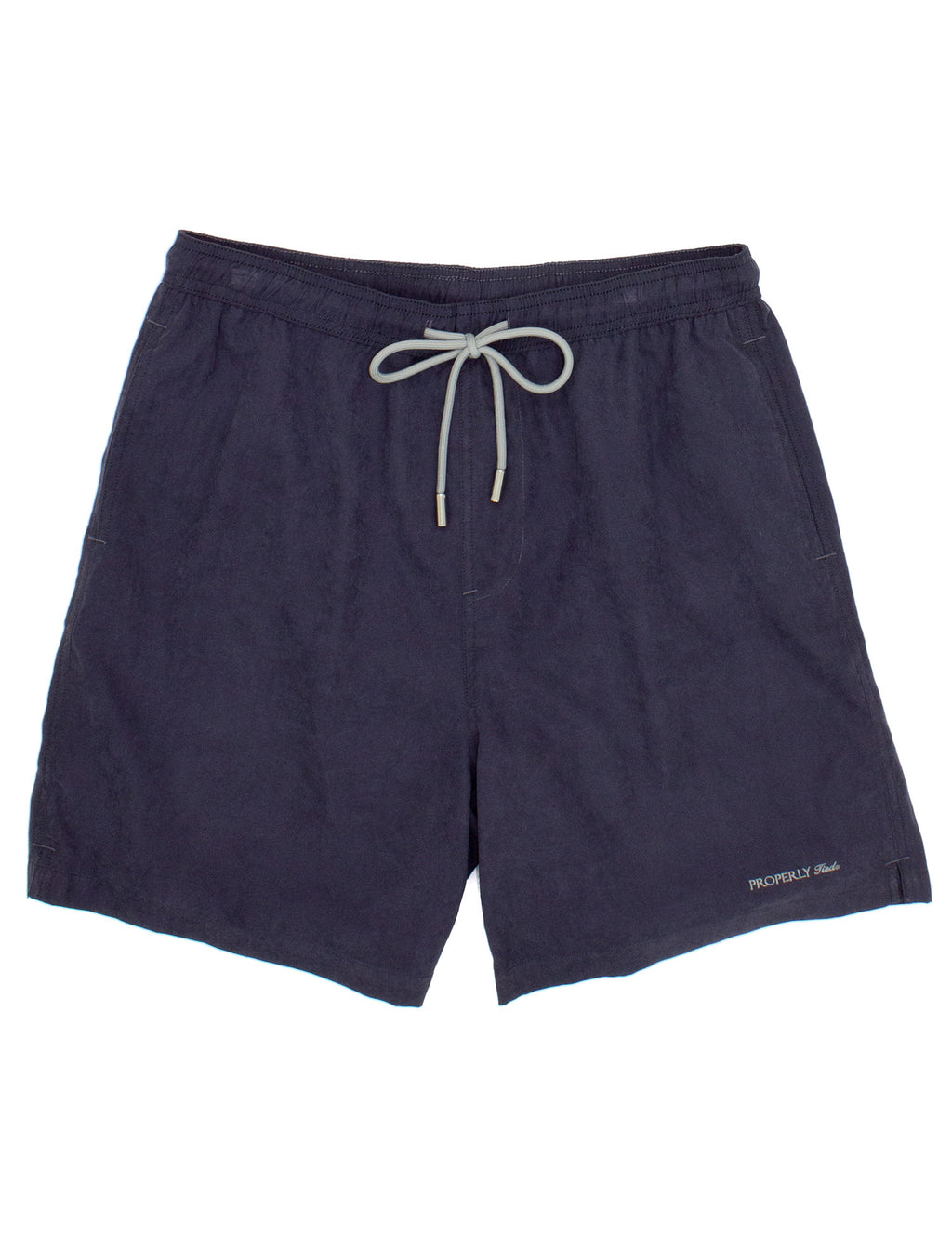 Properly Tied Boys Swim Trunks - Charcoal
