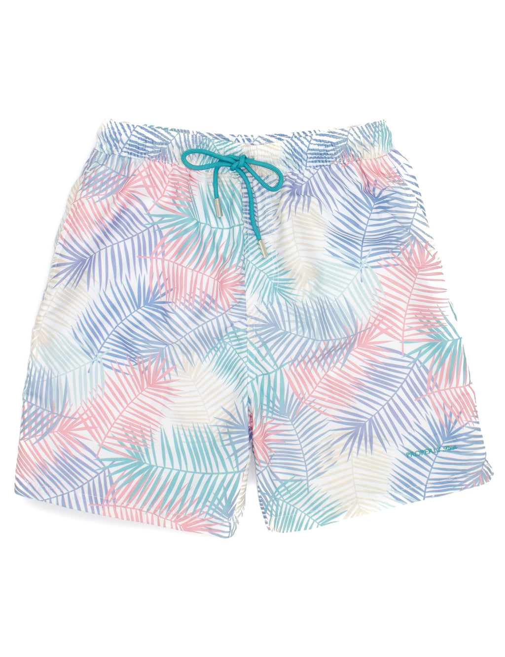 Properly Tied Boys Swim Trunks - Palm